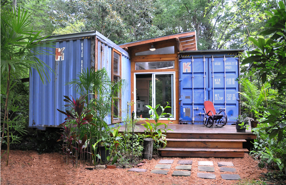 Freight Container House shipping container house | miami shipping container building